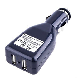 2 Dual Port USB 12v Car Charger Adapter for Ipod MP3/4