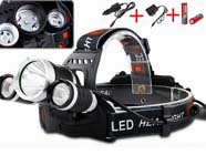 5000LM 3x XM-L T6 LED Headlamp HeadLight + Battery + Car Charger