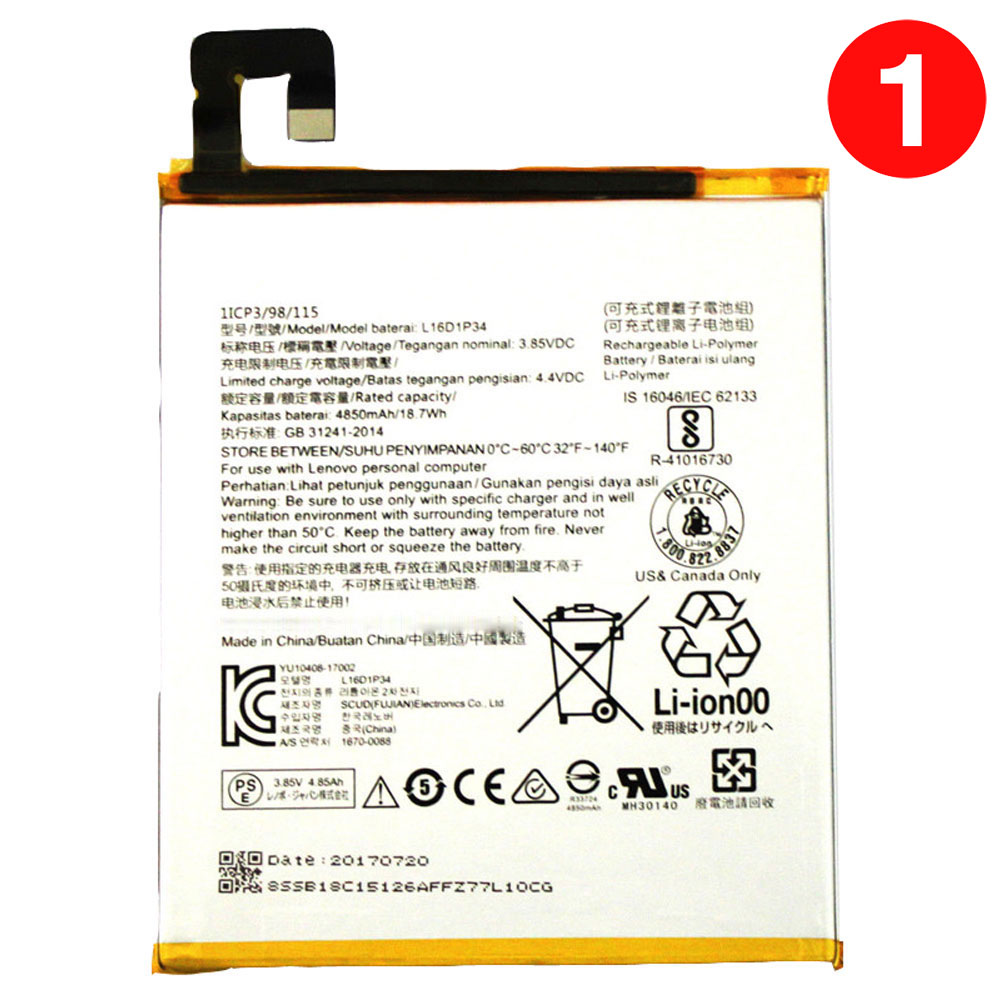 Lenovo L16D1P34 batteries
