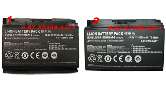 battery for Clevo P170 P170HM