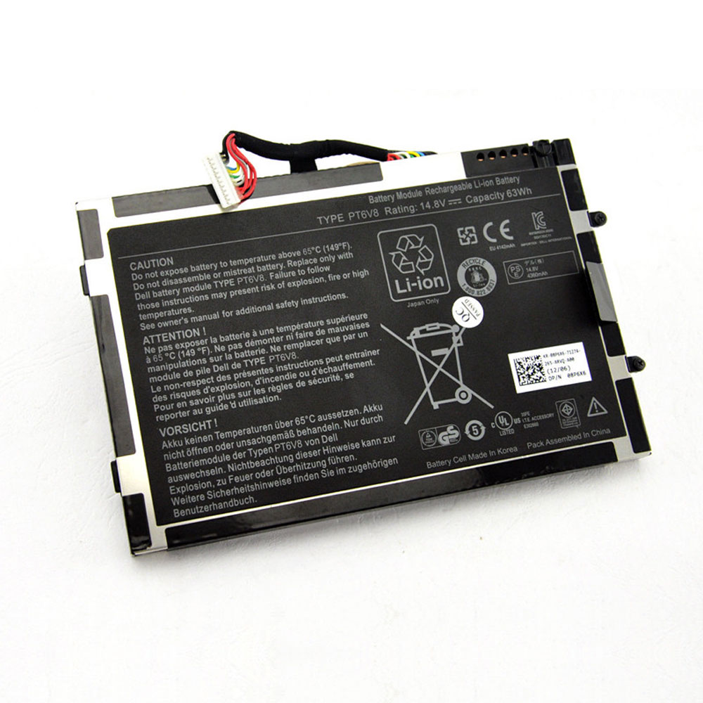 dell PT6V8 8P6X6 08P6X6 batteries