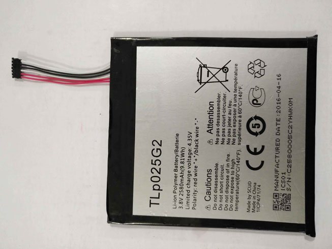 Alcatel TLp025G2 batteries